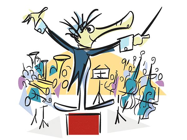 Dirigent und Orchester